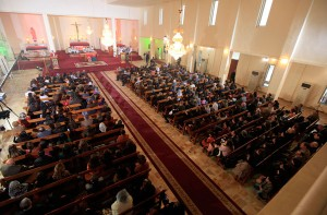 Iraqi Christians attend a mass on Christmas at St. Joseph Chaldean church in Baghdad December 25, 2012.